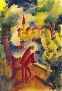 A.Macke / Men on the Street by the Lake by AKG  Images