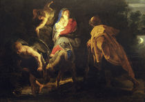 P.P.Rubens, Flight into Egypt / Paint. by AKG  Images