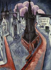 E.L.Kirchner, Roter Turm in Halle von AKG  Images