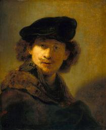 Rembrandt, Selbstbildnis mit Pelzkragen by AKG  Images