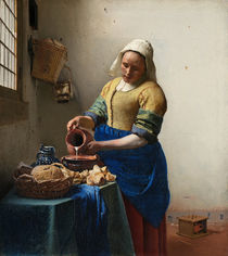 Vermeer / Maid with milk jug /  c. 1658 by AKG  Images