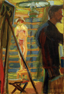 E.L.Kirchner, Heckel und Modell von AKG  Images
