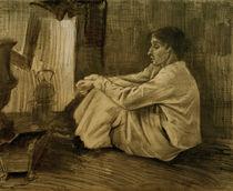 V. van Gogh, Eine sitzende Frau beim Ofen von AKG  Images