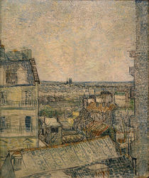 V. v. Gogh, View fr. Window, Paris / Paint. by AKG  Images