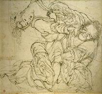 K.Hokusai, Soko kämpft mit seiner Frau von AKG  Images
