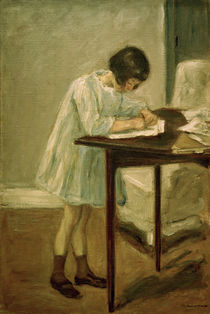 Max Liebermann / Granddaughter writing by AKG  Images