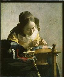 Vermeer / Spitzenklöpplerin von AKG  Images