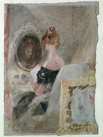 Turner / Women at Mirror / Gouache 1830 by AKG  Images