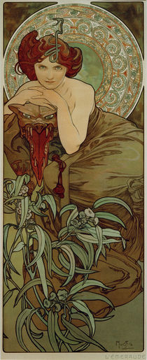 Alfons Mucha / Emerald by AKG  Images