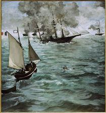 E.Manet, Schlacht Kearsarge u. Alabama von AKG  Images