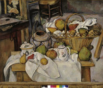 Cezanne / Still-life with Fruit Basket by AKG  Images