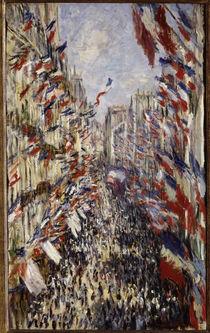 C.Monet, Rue Montorgeuil am 30. Juni 1878 von AKG  Images