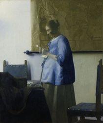 Vermeer / Woman in blue /  c. 1663/1664 by AKG  Images