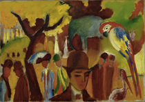 August Macke / Small Zoological Garden... / Painting, 1912 by AKG  Images