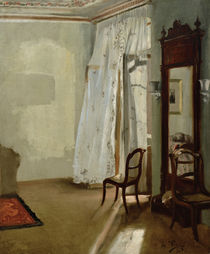 A. von Menzel, Room with Balcony / 1845 by AKG  Images