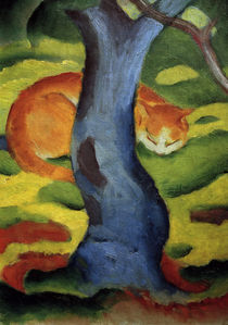 Franz Marc, Cat under a tree. by AKG  Images