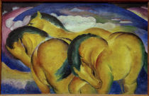 Franz Marc, Die kleinen gelben Pferde by AKG  Images
