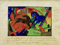 Franz Marc, Two horses by AKG  Images