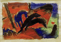 Franz Marc, Two Horses (Jumping Horses) by AKG  Images