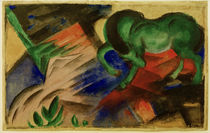 Franz Marc / Green Horse / 1912 by AKG  Images