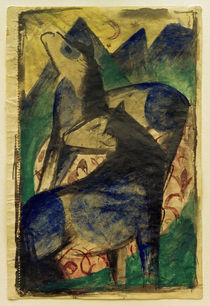 Franz Marc / Two Blue Horses by AKG  Images