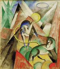 Franz Marc, Landscape with two horses by AKG  Images