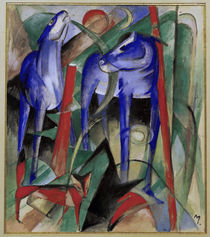 Franz Marc, Creation of the horses by AKG  Images
