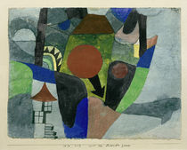 Klee / Landscape with setting sun / 1919 by AKG  Images