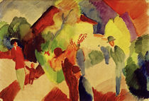 August Macke / People Strolling in the Park by AKG  Images
