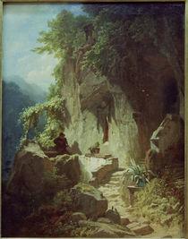 Hermit making Music / C.Spitzweg by AKG  Images
