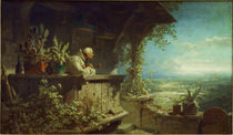 C.Spitzweg / Hermit Smoking / Painting by AKG  Images