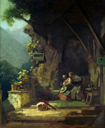 Hermit in Love / C.Spitzweg by AKG  Images