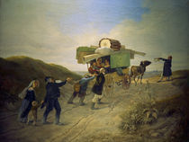 C.Spitzweg, Travelling Comedians by AKG  Images