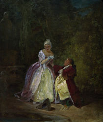 The Proposal of Marriage / C. Spitzweg / Painting c.1840 by AKG  Images