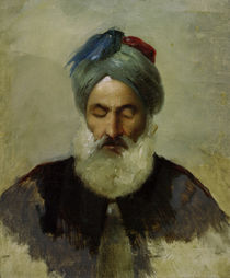Carl Spitzweg, Head study of an old Turkish man by AKG  Images