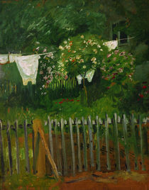 Macke / Laundry on clothesline / 1907 by AKG  Images