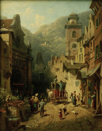 The King's Visit / C. Spitzweg / Painting c.1870 by AKG  Images