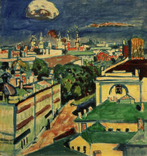 View of Muscow from the Window of Kandinsky's Flat / W. Kandinsky / Painting c.1916 by AKG  Images