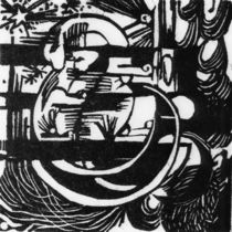 F.Marc / Lizards / Woodcut / 1912 by AKG  Images