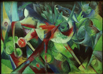 Franz Marc / Deer in the Flower Garden / Painting, 1913 by AKG  Images