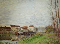 A.Sisley, Abend in Moret, Ende Oktober von AKG  Images