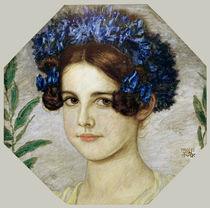 Franz v. Stuck, Daughter With Cornflower by AKG  Images