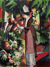 A.Macke / Strolling amongst Flowers by AKG  Images