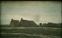 v. Gogh, Cottages / Paint./ 1883 by AKG  Images