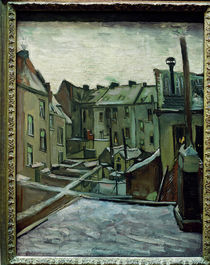 v. Gogh / Backyards in Antwerp / Paint./1885 by AKG  Images