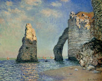 Monet / The rock face of Aval / 1885 by AKG  Images