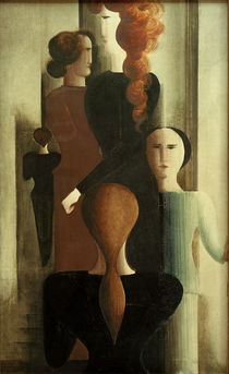 Women on a Stairway / O. Schlemmer / Painting, 1925 by AKG  Images