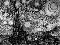 van Gogh / Stary night / Drawing / 1889 by AKG  Images