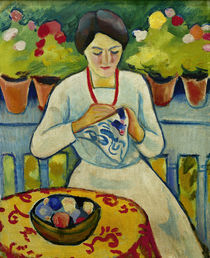 August Macke / Woman on a Balcony / 1910 by AKG  Images