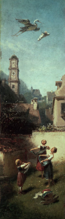The Stork / C.Spitzweg / Painting 1885 by AKG  Images